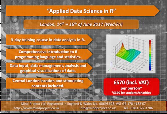 Applied Data Science in R - London - June 2017